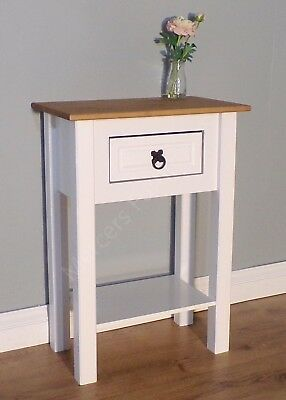 Corona White Painted 1 Drawer Console Table Hallway Side by Mercers Furniture