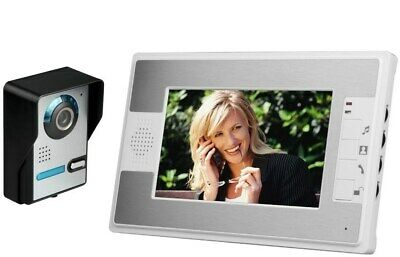 "Security System Wired 7"" Color Video Door Phone Doorbell Intercom with 1 Monitor"