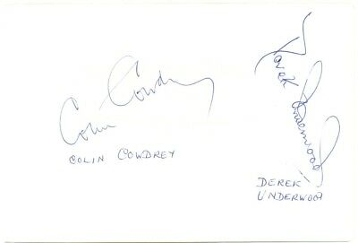 Colin Cowdrey & Derek Underwood signed autograph album page 1960s cricketers