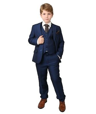 Boys Parliament Blue Suit, Kids Pageboy Prom Wedding Navy Blue Suit Age 1 to 14