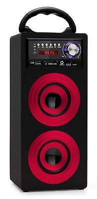 Enceinte Haut-Parleur Portable Bluetooth Stereo Systeme Mp3 USB FM AUX SD Rouge