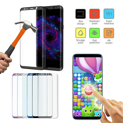 100% Genuine Tempered Glass Screen Protector For Samsung Galaxy S9 Plus S8 S7 UK