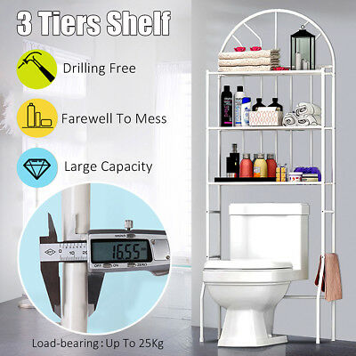 3Tiers Storage Rack Over Toilet/Bathroom/Laundry/Washing Machine Organizer Shelf