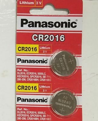 2 x PANASONIC CR 2016 CR2016 ECR2016 LITHIUM COIN CELL Button Battery Exp 2025