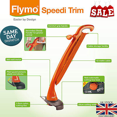 Flymo Contour XT Electric Grass Trimmer  Cutting Width 21 cm