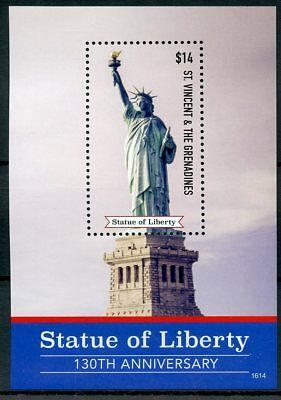 St Vincent & Grenadines 2016 MNH Statue of Liberty 1v S/S Architecture Stamps