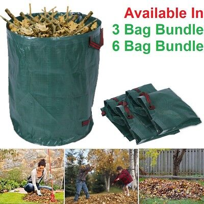Large 270L 76cm Reusable Garden Waste Carry Bags For Leaves Rubbish Plants Grass