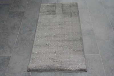 Quality Glitter Grey Carpet Heavy Domestic Hall / Stairs Extra Long Cut To Size