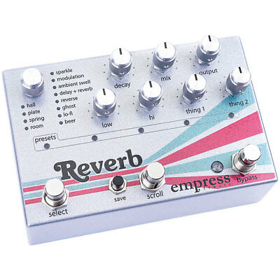 Empress Effects Reverb Effects Pedal insured & trackable shipping
