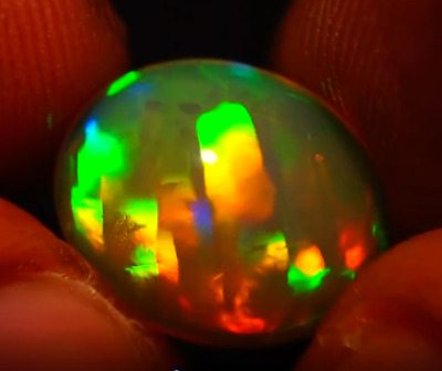 Top Deluxe Neon Rainbow Natural Solid Opal - 13 x 11 x 6.7 mm - 3.91 cts