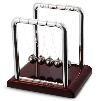Newtons Cradle Fun Steel Balance Balls Physics Science Pendulum Desk Toy Gift