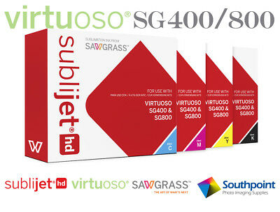 Sawgrass Sublijet HD Standard Size Ink Set for Virtuoso SG400/800 Printer