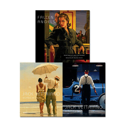 Jack Vettriano Collection 3 Books Set Fallen Angels Women in Love A Man's World