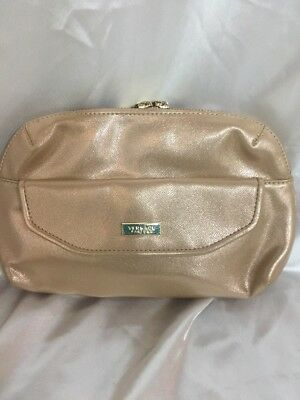 Versace Parfums Rose Gold Clutch Cosmetic Bag Wallet Nwt purse cute 08c6357650a58