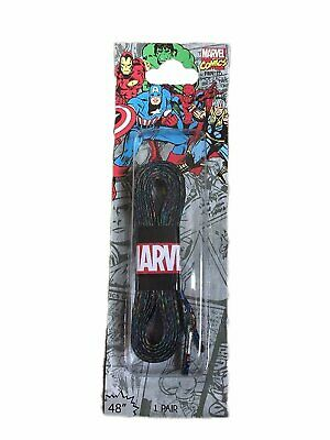 "Marvel Shoelaces Pair of 48"" Laces with Comic Character Avengers Design"