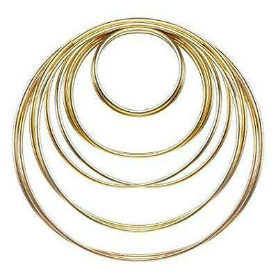 "Metal Hoop Ring Dreamcatcher Craft - 15"" Gold"