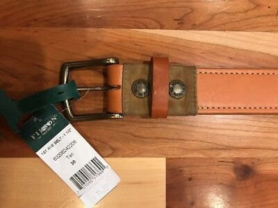 NEW Filson Natural Tan 63208 DOUBLE BRIDLE LEATHER BELT Made in USA $125