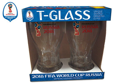 Russia 2018 FIFA World Cup Trophy-glass - Set of 2 DuoPack - Soccer Fan's Beer