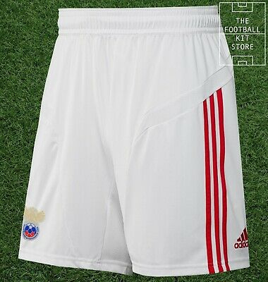 Russia Away Shorts - Official Adidas Football Shorts - White - Mens - All Sizes