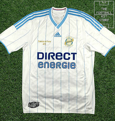 Marseille Home Shirt - Official Adidas 2010 French Champions Edition Shirt
