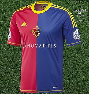 FC Basel Home Shirt - Official Adidas Football Shirt - Small
