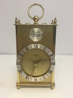 "TEMPUS FUGIT KIENZLE German Carriage Mantel Mantle Clock Approx 8.5"" Battery"