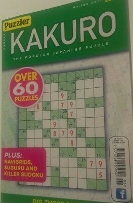 KAKURO No:106 by Puzzler Green cover (suduko) JAPANESE PUZZLES NEW free P&P BOOK