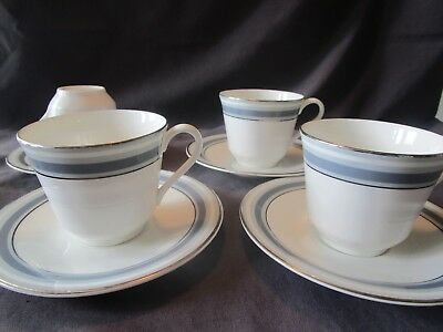 4 Royal Doulton East Brook Cups and Saucers
