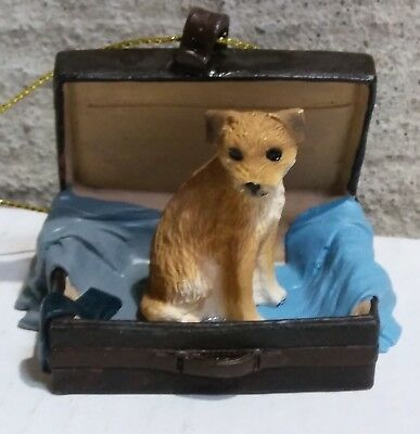 Victorian Trading Co Travel Companion Border Terrier Ornament NWD 24D