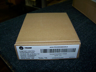 Trane heat/cool thermostat non-progammable digital 24V (gas, oil or elect)