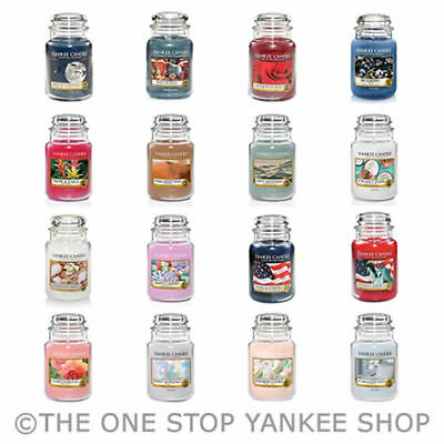 SAVE OVER 25%! Yankee Candle Large Jar Scented 22oz Variety