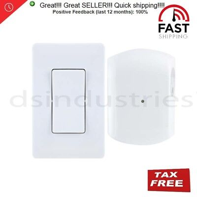 GE 18279 Wireless Wall Switch Lighting Control, Remote Operation, White