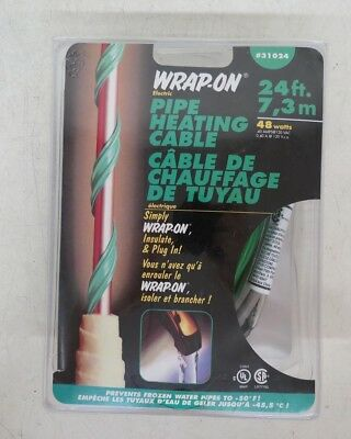 Wrap-On Electric Pipe Heating Cable #31024 NEW Satisfaction Guaranteed LOOK
