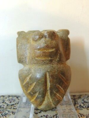 Antique  Mythological zoomorphic stone figure  pendant ,idol,god ,alien