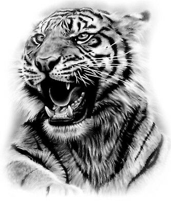High Quality 12cm x 10cm Fake Tattoo Wild Tiger Waterproof Temporary Body Art