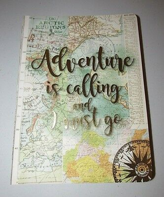 "Punch Studio ""adventure Is Calling"" Travel World Map Decorative Journal"