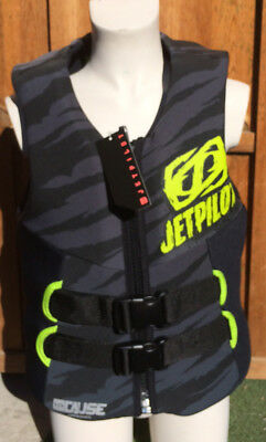 Gilet Youth Cause Néo Black Jet Pilot - Enfant 30-40 kg - CE - PWC jetski wake