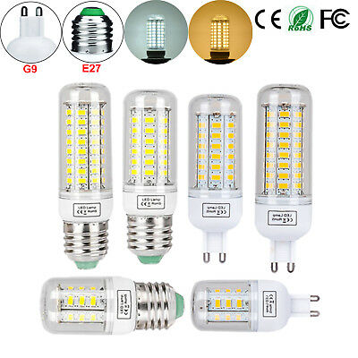 E27 G9 LED Corn Bulb 6W 15W 20W Light 5730 SMD Lamp Warm White Cool White 110V