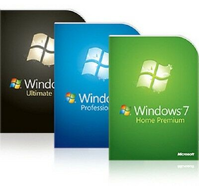 Windows 7 Reinstallation Disc Full Install - 32 64 Home Professional Ultimate