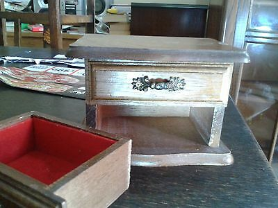 Antique Jewel case,box,solid wood,clean drawers