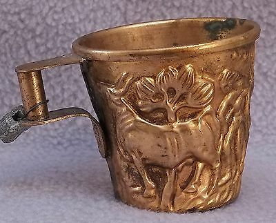 Vintage Greek Valpheio Hand Made Brass Cup with ID Tag