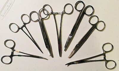 Lot Of 7 Vintage Collectible Doctor Medical Surgical Instruments Scissors Tools