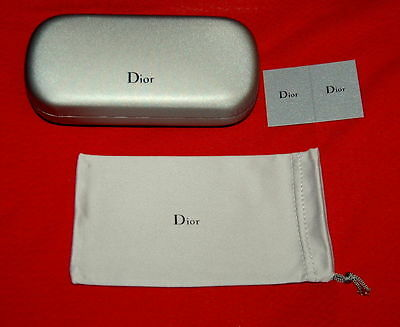 NWT DIOR silver grey sunglasses case - come with bag