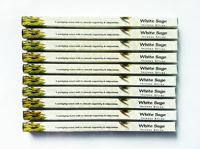 Incense Sticks White Sage Kamini Brand 10 Box Pack Bulk Total 80 Sticks
