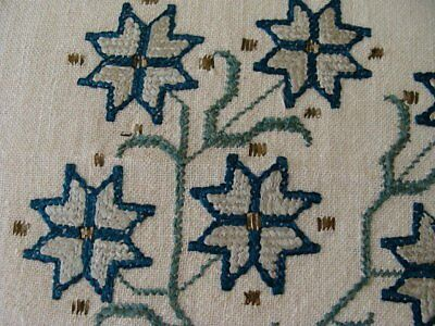 RARE Antique Turkish Ottoman Metallic Gold Hand Embroidered Towel 18th-19th Cent