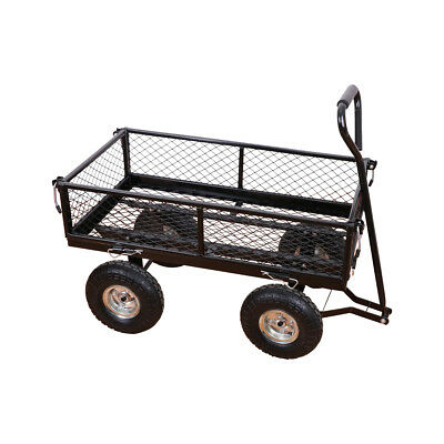 Heavy Duty Steel Wagon Cart Outdoor Large Garden supplies Load Capacity 400LB