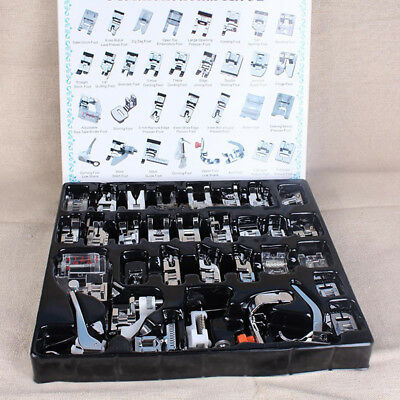 32PCS Domestic Sewing Machine Foot Presser Feet Set for Brother Janome