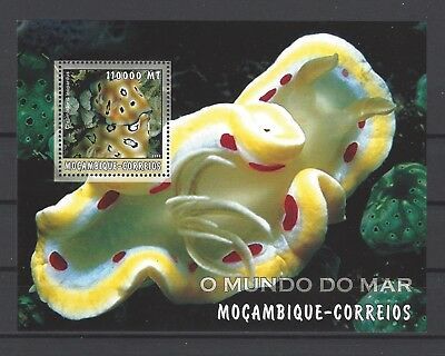 Mozambique 2002 Sc#1694 Sea Slug-Chromodoris Leopardus MNH S/S $11.00
