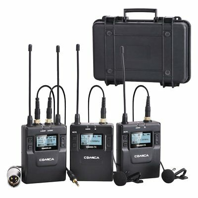 Comica CVM-WM300(A) 96-Channel UHF Wireless Dual Lavalier Microphone for camera