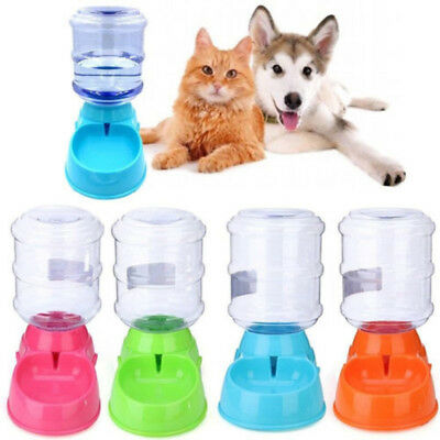 Pet Dog Puppy Cat Automatic Water Dispenser Food Dish Bowl Feeder 3.5L